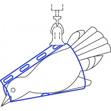 Cône de pesée d'oiseaux pour balances à ressort (50 - 500 g) - 281-891