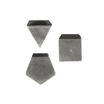 OIML E2 (318) Milligram weights - flat polygonal sheet, aluminium / german silver