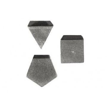OIML M1 (348) Milligram weights - flat polygonal sheet, aluminium / german silver
