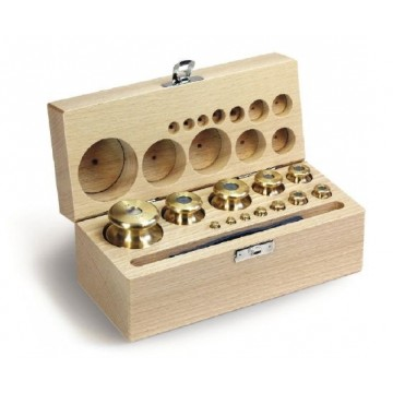 OIML M2 (354) Sets of weights - cylindrical, finely turned brass