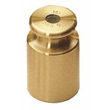 OIML M2 (357) Single weight - cylindrical, finely turned brass
