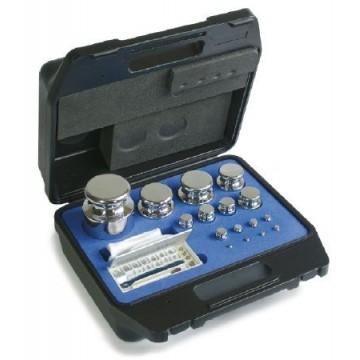 OIML E2 (314-4) Gewichtssatz - Knopfform, Edelstahl poliert