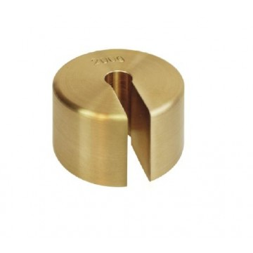 OIML M1 (347-5x5) Slotted weights - finely turned brass