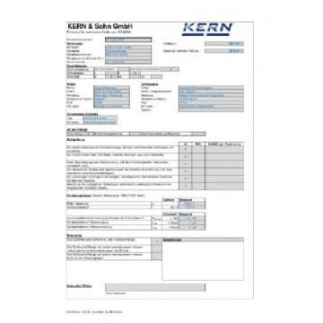 Certificat d'étalonnage ISO pour Bloc de référence SAUTER AHMO D02. AHMO D03 et AHMO D04