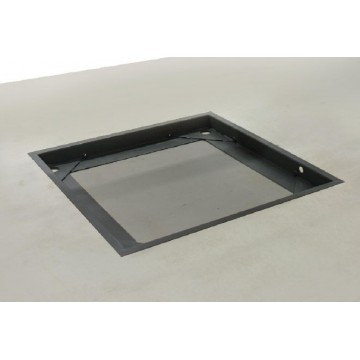 Stable pit frame, steel for models with weighing plate size W×D×H 1200×1000×108 mm - BIC-A08