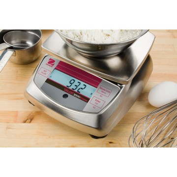 Stainless steel food scale OHAUS VALOR 3000