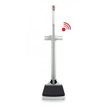 Pèse-personne à colonne sans fil de grande capacité avec toise intégrée, homologuée usage médical SECA 704 s