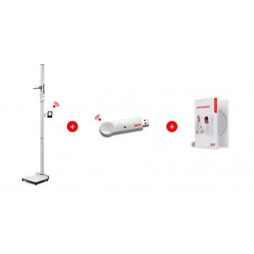 Station de mesure sans fil pour la détermination du poids et de la taille, homologuée usage médical SECA 285 dp