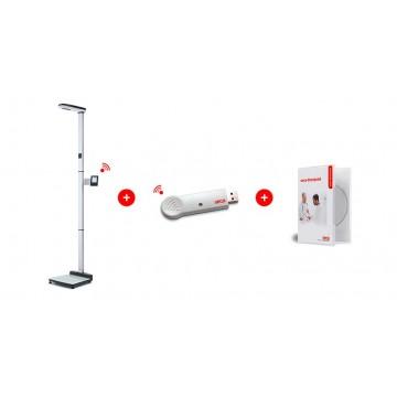 Station de mesure sans fil à ultrasons permettant de déterminer la taille et le poids, homologuée usage médical SECA 287 dp