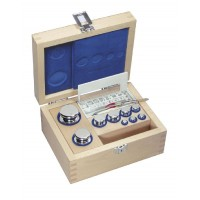 OIML F1 (326-0x2) Set of weights - ECO-Shape, polished stainless steel, Wooden box