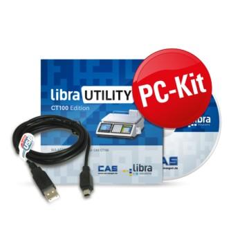 Kit PC avec le logiciel libra UTILITY  - Programmation PLU, TVA, En-tête, logo...