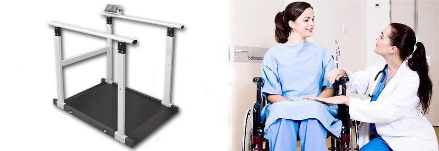 Plateformes de pesée pour chaise roulante
